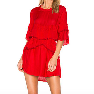 IRO Red Cecile Mini Dress Size 38/Small